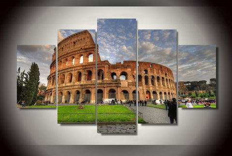 Ancient Roman Colosseum 5 Pcs Wall Canvas -  - TheLedHeroes