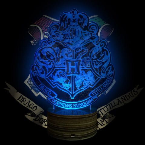Harry Potter Hogwarts Crest 3D LED LAMP