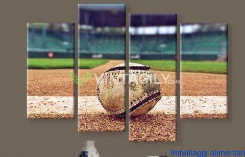 Baseball 4 Pcs Wall Canvas