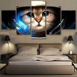 Astronaut cat 5 Pcs Wall Canvas