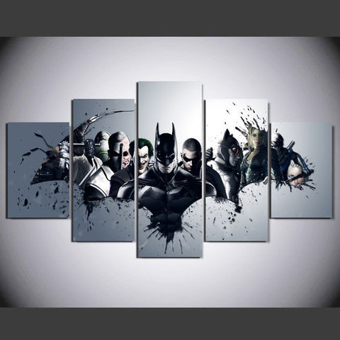 Batman 5 Pcs Wall Canvas