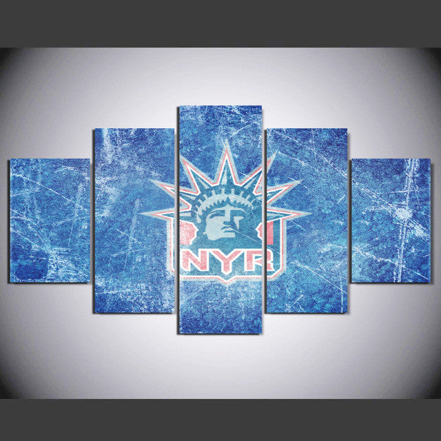 NHL New-York Rangers  5 Pcs Wall Canvas -  - TheLedHeroes