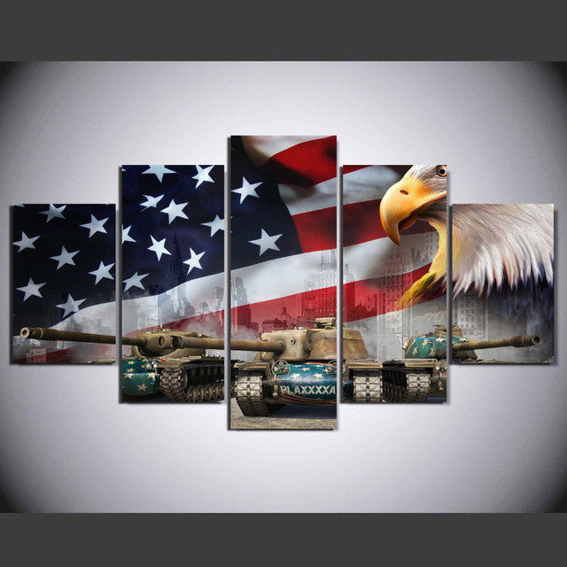 American eagle army 5 Pcs Wall Canvas