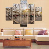 Paris landscape 5 Pcs Wall Canvas -  - TheLedHeroes