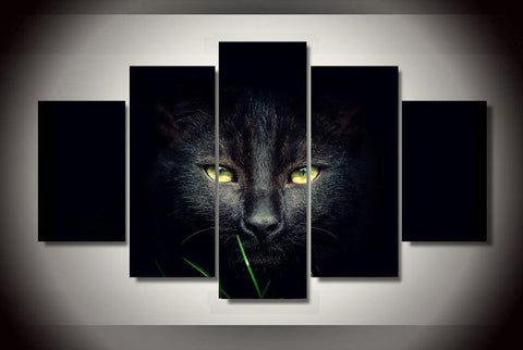 Black panther 5 Pcs Wall Canvas