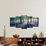 Lavanda in the forest 5 Pcs Wall Canvas -  - TheLedHeroes
