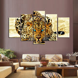Leopard 5 Pcs Wall Canvas -  - TheLedHeroes