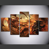Dragon Age 5 Pcs Wall Canvas -  - TheLedHeroes