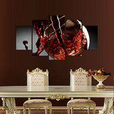 Red wine 5 Pcs Wall Canvas -  - TheLedHeroes