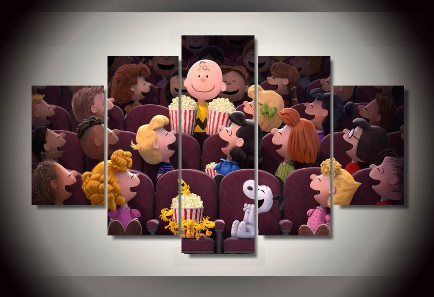 The Peanuts movie 5 Pcs Wall Canvas -  - TheLedHeroes