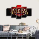 NFL San Fransisco 49ers 5 Pcs Wall Canvas -  - TheLedHeroes