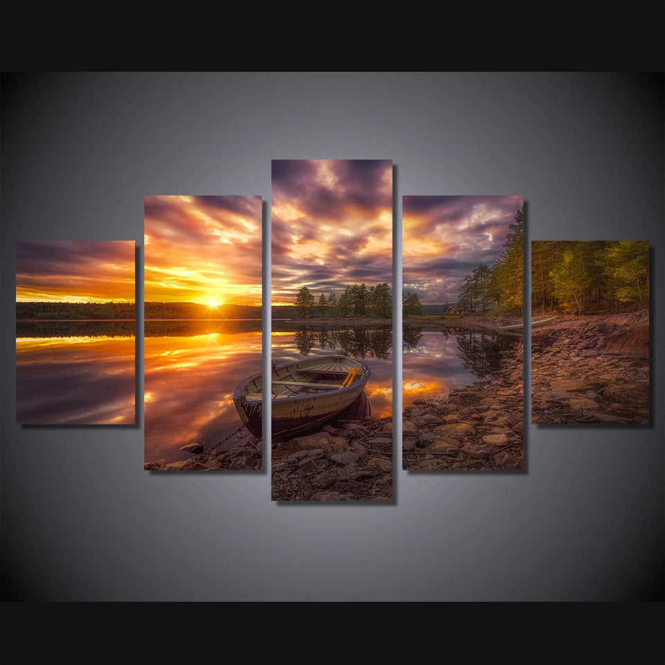 Ringerike Norway 5 Pcs Wall Canvas -  - TheLedHeroes