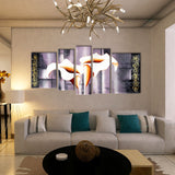 Lily Flower 5 Pcs Wall Canvas -  - TheLedHeroes