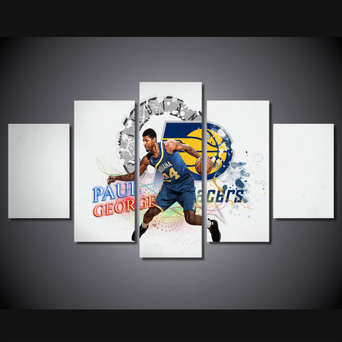 Basket-ball Paul George Indiana Pacers 5 Pcs Wall Canvas
