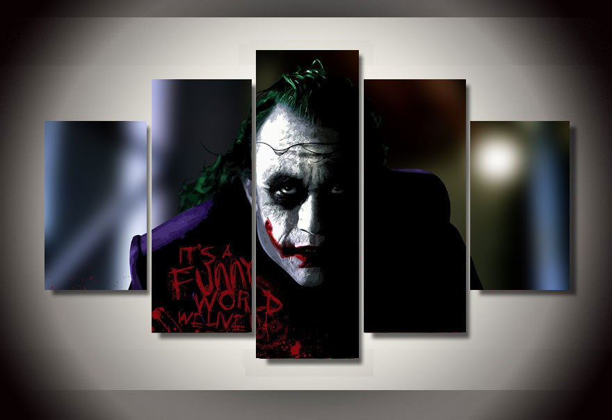 The Joker Poster 5 Pcs Wall Canvas -  - TheLedHeroes
