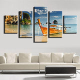 Sail Boat Paintings 5 Pcs Wall Canvas -  - TheLedHeroes