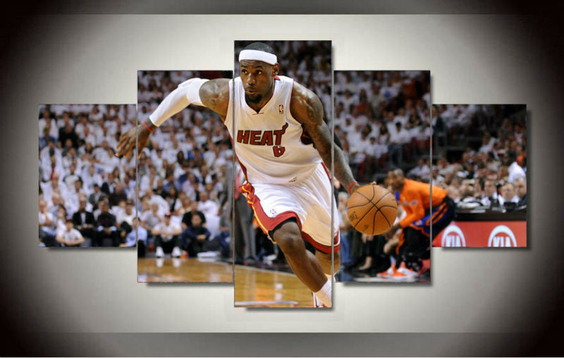 LeBron James 5 Pcs Wall Canvas -  - TheLedHeroes