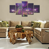New Year decoration 5 Pcs Wall Canvas -  - TheLedHeroes