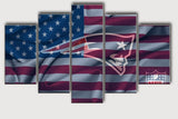 New England Patriots 5 Pcs Wall Canvas -  - TheLedHeroes