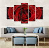 Dew Rose 5 Pcs Wall Canvas -  - TheLedHeroes