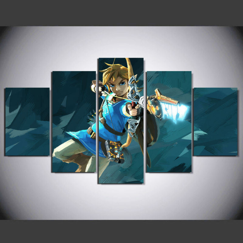 The Legend of Zelda 5 Pcs Wall Canvas -  - TheLedHeroes