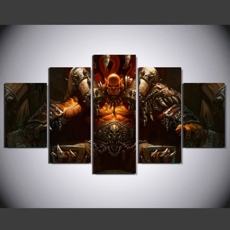 World of Warcraft 3 - 5 Pcs Wall Canvas -  - TheLedHeroes
