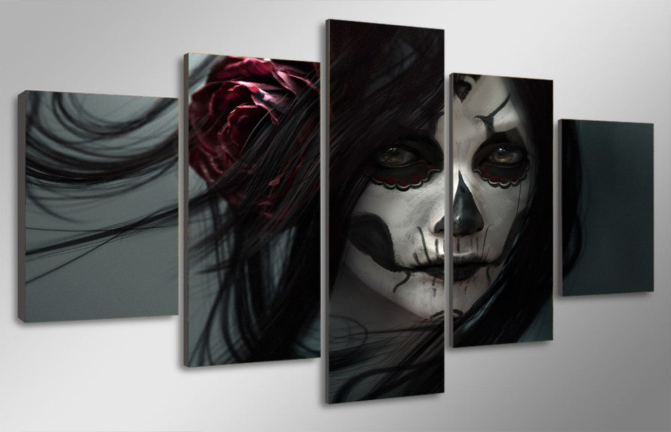 Dead Face Paint 5 Pcs Wall Canvas -  - TheLedHeroes