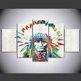 Multicolor Indian 5 Pcs Wall Canvas -  - TheLedHeroes