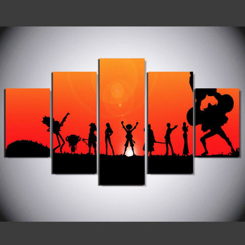 Cartoon characters HD 5 Pcs Wall Canvas -  - TheLedHeroes