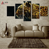 Animals Tigers 5 Pcs Wall Canvas -  - TheLedHeroes