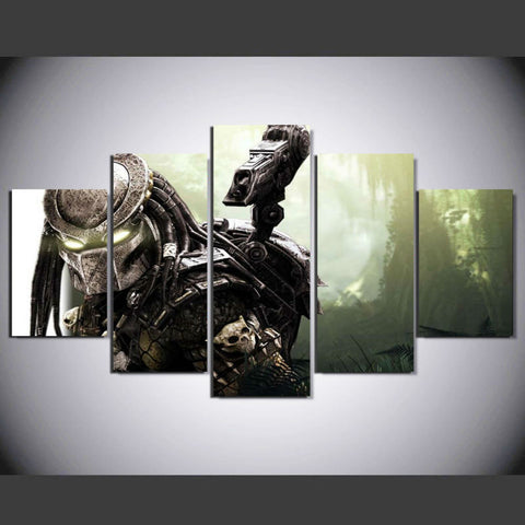 Aliens vs Predator 5 Pcs Wall Canvas