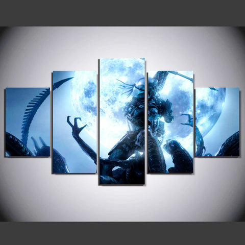 Aliens vs. Predator 5 Pcs Wall Canvas
