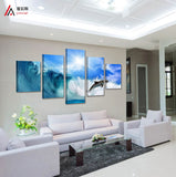 Animal Paintings Mediterranean 5 Pcs Wall Canvas -  - TheLedHeroes