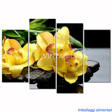 Butterfly Orchid Flower 4 Pcs Wall Canvas