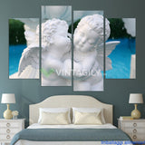 Beautiful Angel 4 Pcs Wall Canvas