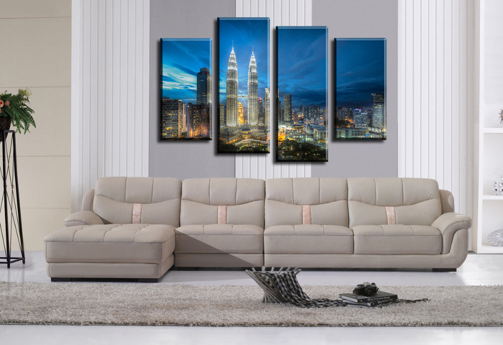 Skyscrapers Fallout 4 Pcs Wall Canvas – TheLedHeroes - Vintagily store