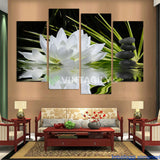 Beautiful lotus 4 Pcs Wall Canvas
