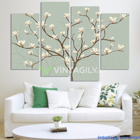 Abstract Flower 4 Pcs Wall Canvas -  - TheLedHeroes