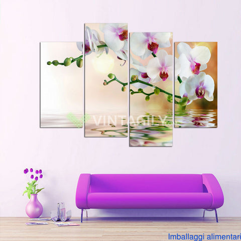 Art flowers 4 Pcs Wall Canvas