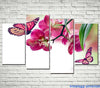 Art butterfly 4 Pcs Wall Canvas