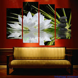 Beautiful flowers 4 Pcs Wall Canvas