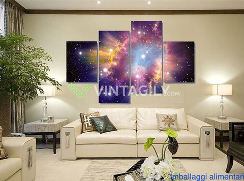 Beautiful Sky 4 Pcs Wall Canvas