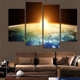 Blue Starry Sky 4 Pcs Wall Canvas