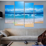 Beach and Sea 4 Pcs Wall Canvas