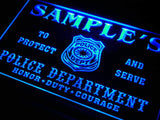 Police Station Badge Name Personalized Custom LED Sign -  - TheLedHeroes