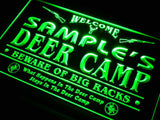 Deer Camp Big Racks Name Personalized Custom LED Sign
