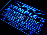 Hunting Lodge Firearms Name Personalized Custom LED Sign