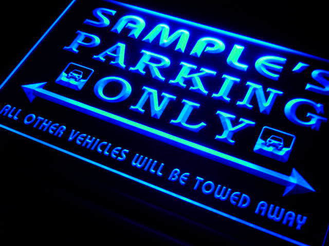 Name Personalized Custom Car Parking Only Bar Beer LED Sign FREE - Car sign and name