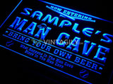 Name Personalized Custom Man Cave Baseball Bar Beer LED Sign - FREE SHIPPING