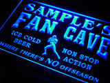 Football Fan Cave Name Personalized Custom LED Sign -  Blue - TheLedHeroes